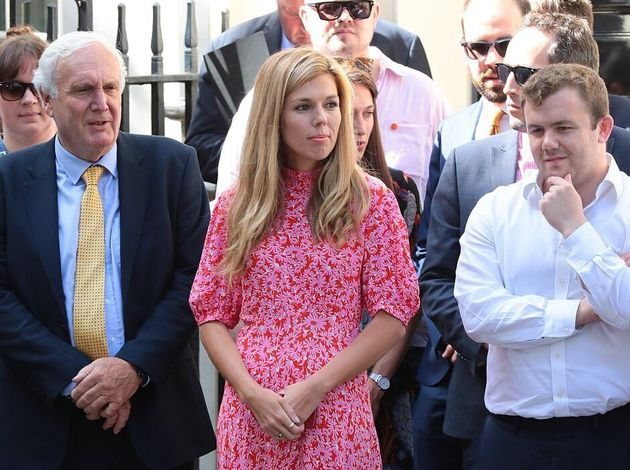 Carrie Symonds à Londres le 24 juillet