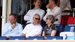 Theresa May Spotted Being Super-Over Politics As She Relaxes At Lord's During Boris Johnson's First