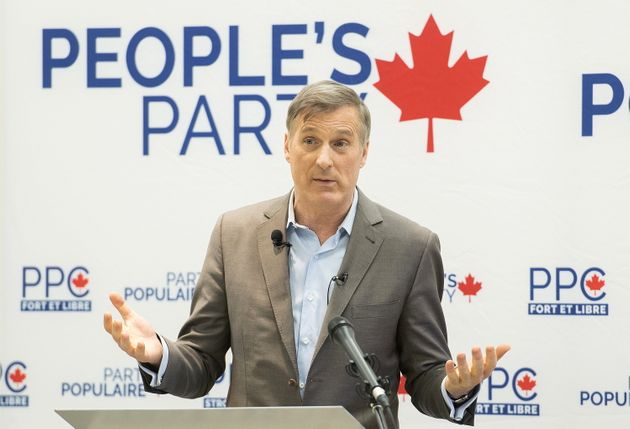 Le chef du Parti populaire du Canada, Maxime Bernier, lors de la nomination d'un candidat, en janvier