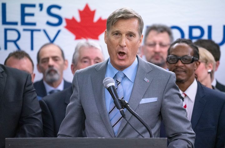 People's Party leader Maxime Bernier presents a list of Montreal-area candidates for the next federal election in Montreal on June 14, 2019.