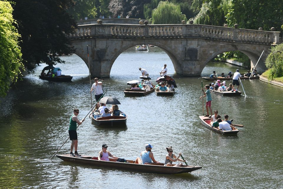 Punting along the River Cam in