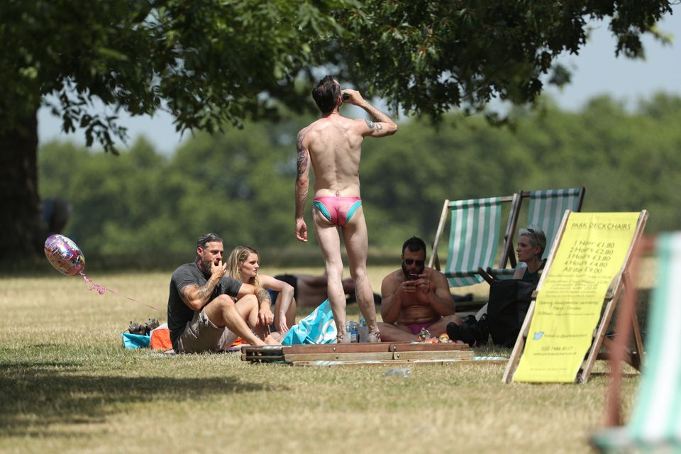 Stripping off in Hyde Park,