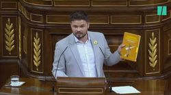 Este es el libro que Rufián ha regalado a Pedro Sánchez y Pablo
