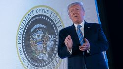 Trump Stood In Front Of Fake Presidential Seal With Russian Symbol, Golf