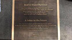 Une inquiétante «lettre à l'avenir» pour rappeler un glacier