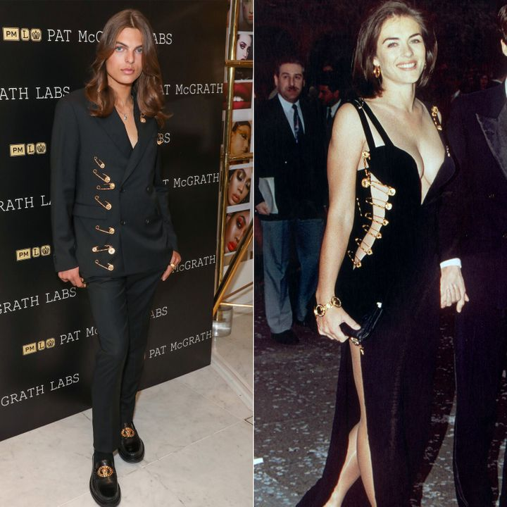 Damian Hurley, left, launches the new Pat McGrath Labs product range, Sublime Perfection: The System, at Selfridges on July 2
