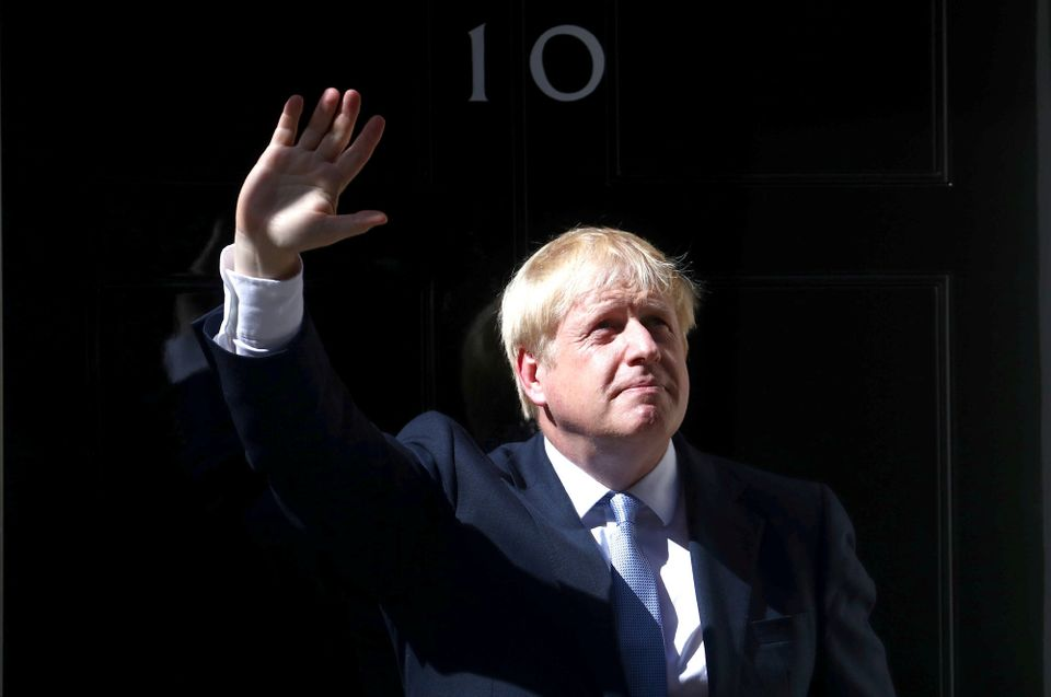 Boris Johnson, en el 10 de Downing