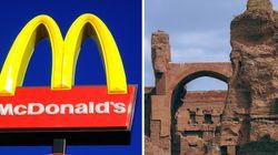 Raggi chiede lo stop al progetto di un McDonald's alle Terme di