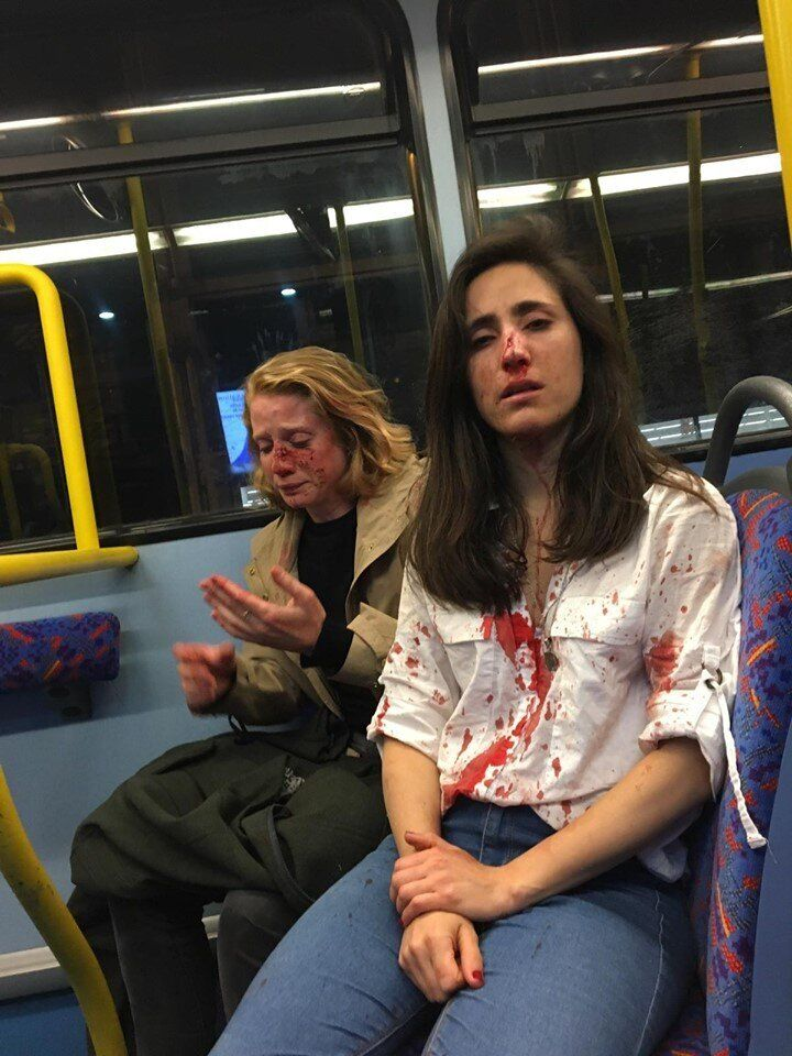 Melania Geymonat shared this photo of her and her date following the May 30 assault on a London bus. Four teenagers have sinc