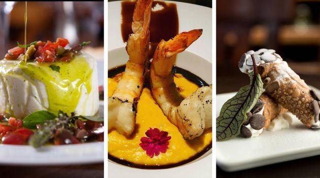 Pratos de restaurantes que participam do evento: Casa Santo Antônio (esq.), Huto (centro) eAntonietta...
