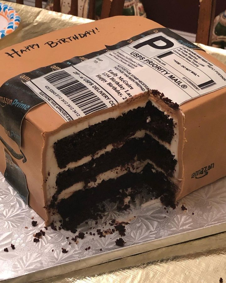 Though the dessert may<i> look</i> like a cardboard box, it tasted like anything but: &ldquo;It was a delicious chocolate cake!&rdquo; McGuire said.