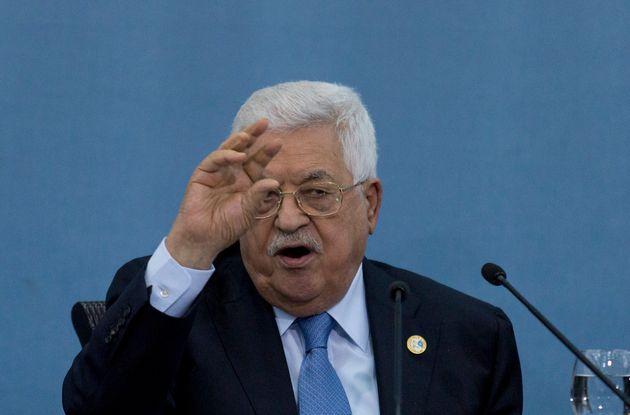 Mahmoud Abbas, le président de l'Autorité palestinienne en juin