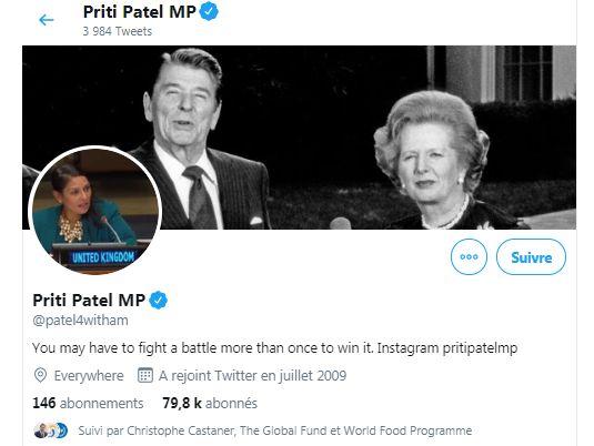 Royaume-Uni: Priti Patel, la nouvelle ministre de l'intérieur