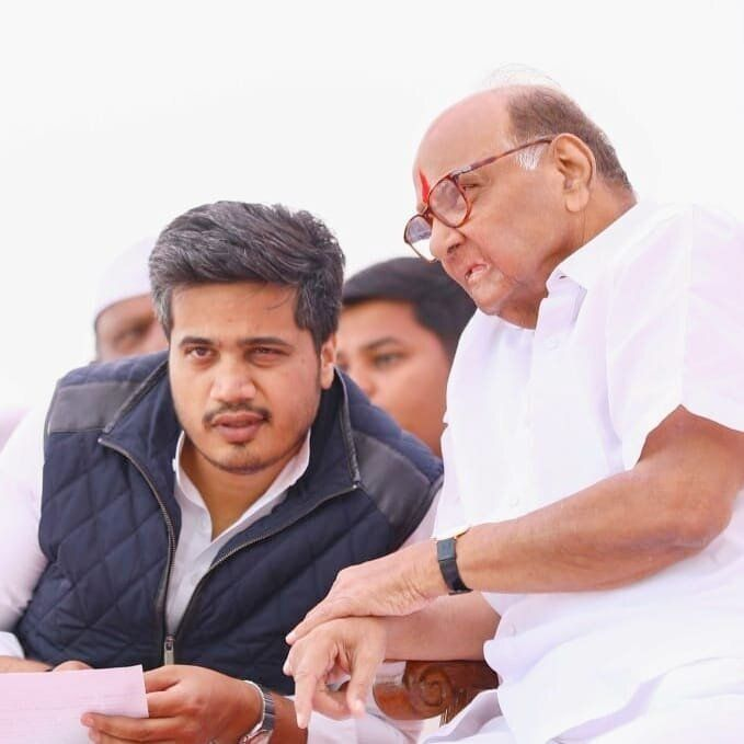 Sharad Pawar with Rohit