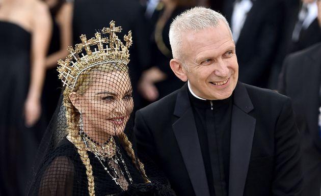Madonna et Jean Paul Gaultier au gala du Met, en 2018, à New