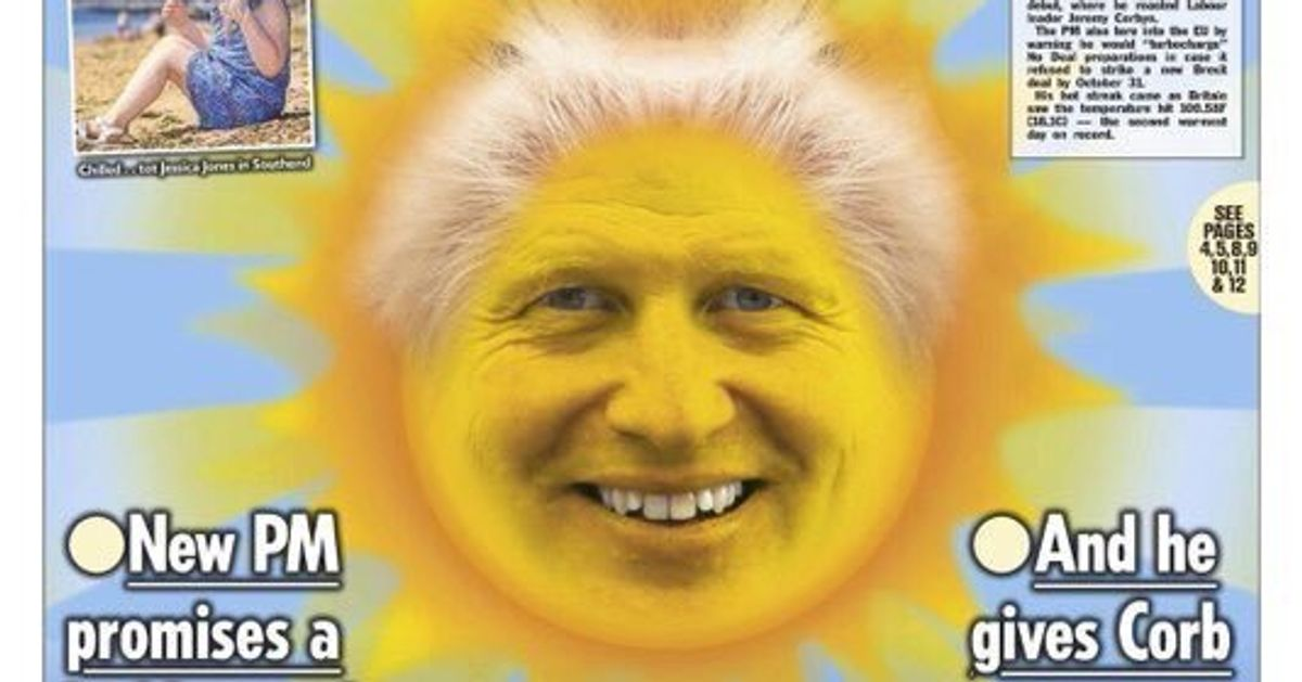 The Sun's Boris Johnson Front Page Today Is The Stuff Of ...