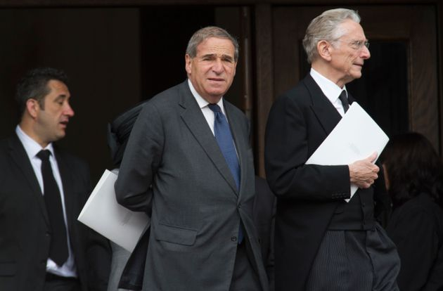 Lord Leon Brittan, centre, died before his name was