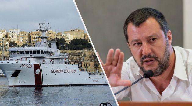 Salvini chiude i porti anche alla Guardia Costiera italiana: 135 migranti sono in attesa di un