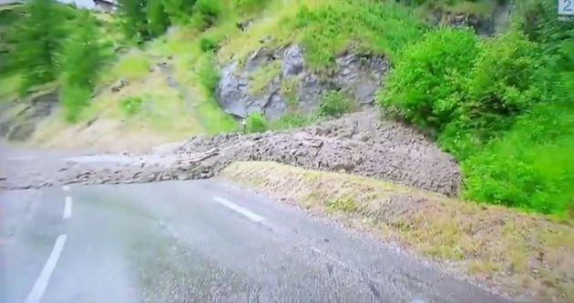 Un desprendimiento de tierra obliga a suspender la 19ª etapa del