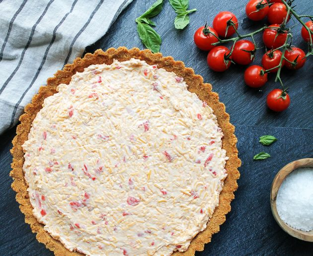 Pimento Cheese And Heirloom Tomato Tart With Ritz Cracker