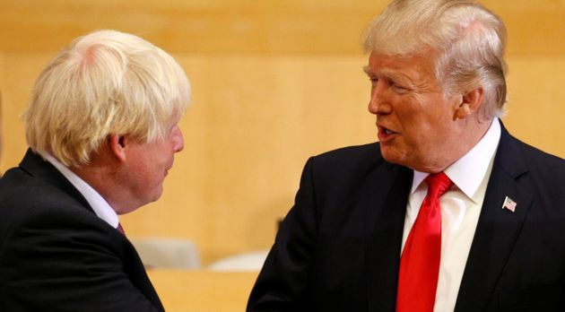 Boris Johnson et Donald Trump au siège de l'ONU à New York en septembre