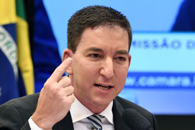 Jornalista norte-americano Glenn Greenwald durante audiência no
