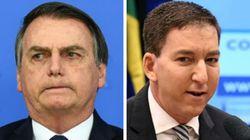 Bolsonaro diz que Glenn Greenwald pode pegar 'uma cana' no