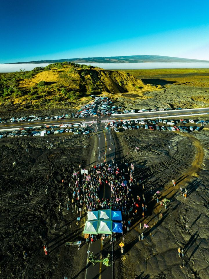 "In the last two weeks, nearly 2,000 people have visited or joined the protests on Mauna Kea. <a href=""//www.instagram.c"