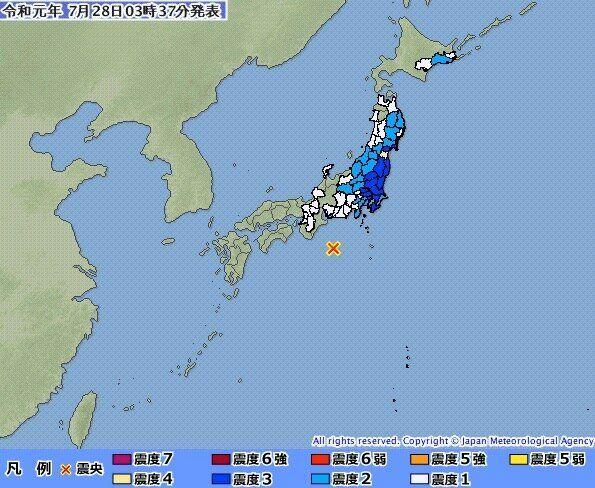 일본 미에현 앞바다에서 규모 6.5 지진이