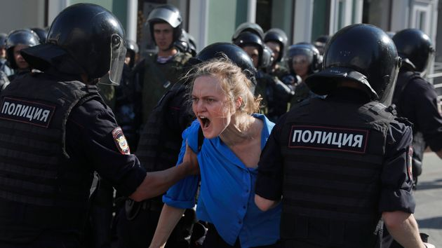 Russian Police Arrest 1,000 In Mass Protest Over Moscow Election