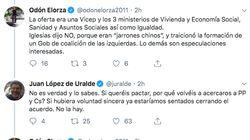 Uralde (Unidas Podemos) y Elorza (PSOE) se enzarzan en Twitter por la investidura