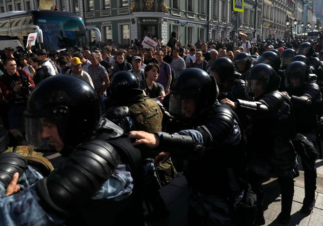 Russian Police Detain Nearly 1,400 Protesters In