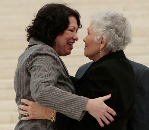 Sonia Sotomayor com sua mãe, Celina