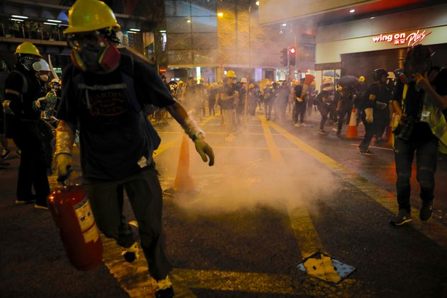 Hong Kong Protests: Police Fire Tear Gas As Protesters Block