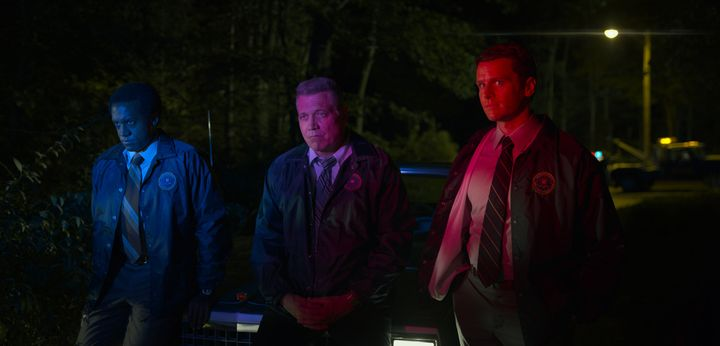 """Jonathan Groff, centre, in """"Mindhunter."""""""