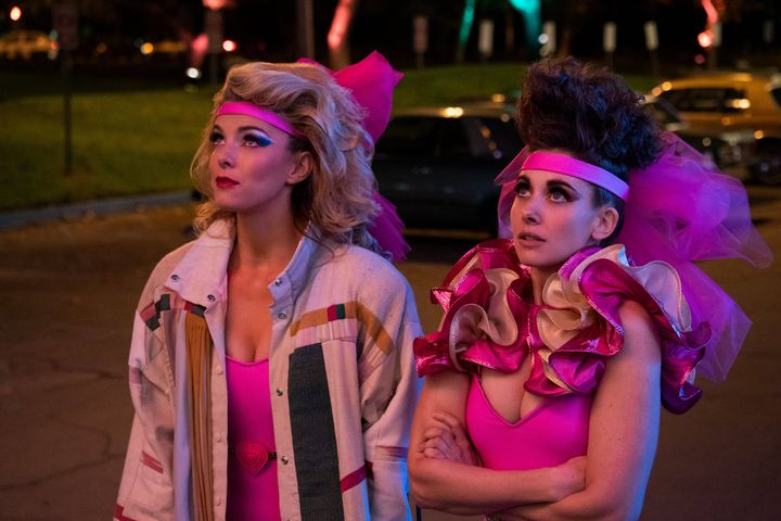 """Betty Gilpin and Alison Brie as '80s wrestlers in the new season of """"GLOW."""""""