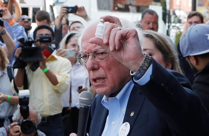 Sen. Bernie Sanders and a busload of insulin patients stopped in Windsor, Ont. on July 20, 2019 to highlight the high costs of the insulin in the United States.