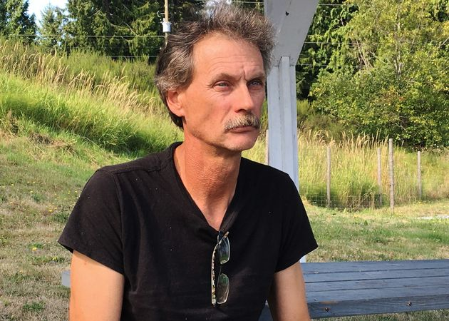 Alan Schmegelsky, father of suspect Bryer Schmegelsky in Mill Bay B.C. on July 24, 2019.
