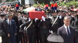 I funerali in diretta del vicebrigadiere Cerciello