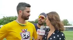 Watch: Yuvraj Singh Crashes An Interview And Walks
