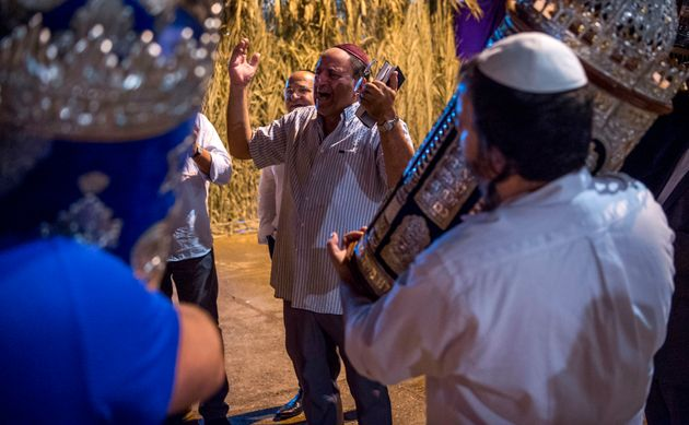 Des juifs marocains et israéliens célèbrent la fête de Sukkot, à Marrakech