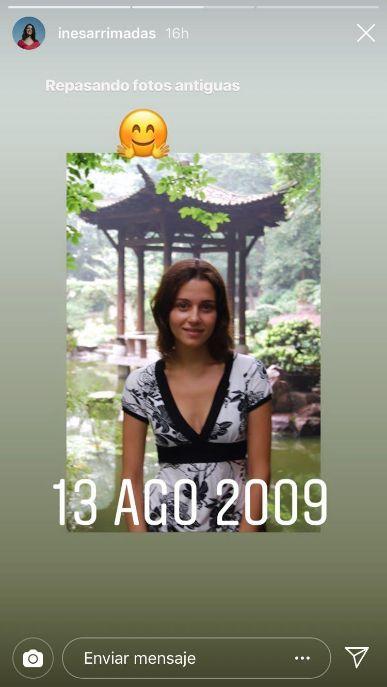 Inés Arrimadas recupera en Instagram una foto de joven: de viaje en agosto de