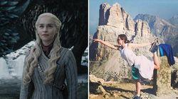 Emilia Clarke incantata dalle Dolomiti: