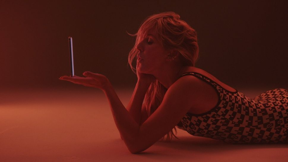 "Goulding is seen here in a scene from the ""Hate Me"" video."