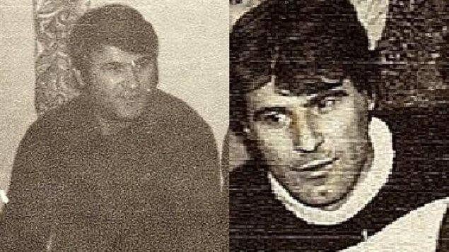 L'oncle d'Adis (à gauche) et son papa (à droite), tous deux assassinés par l'armée serbe.