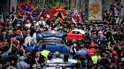 I funerali del carabiniere Mario Cerciello Rega nella stessa chiesa delle