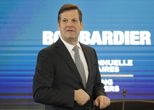 Pierre Beaudoin, chairman of the board of Bombardier, attends the company's annual general meeting in...