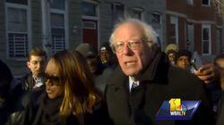 En 2015, Bernie Sanders aussi taclait Baltimore (et ça n'a pas échappé au camp