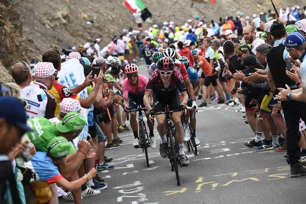 Lors de l'étape Embrun-Valloire sur le Tour de France le 25 juillet