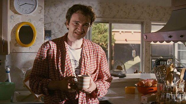 O diretor Quentin Tarantino em cena do filme Pulp Fiction - Tempo de
